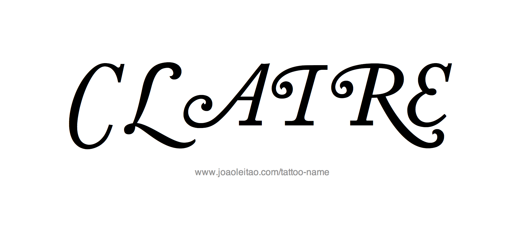 Tattoo Design Name Claire