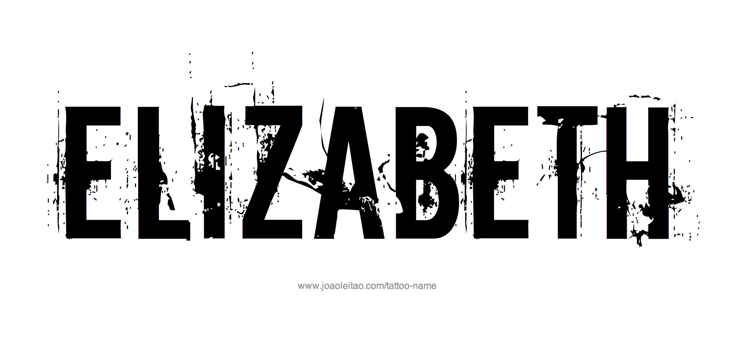 Tattoo Design Name Elizabeth