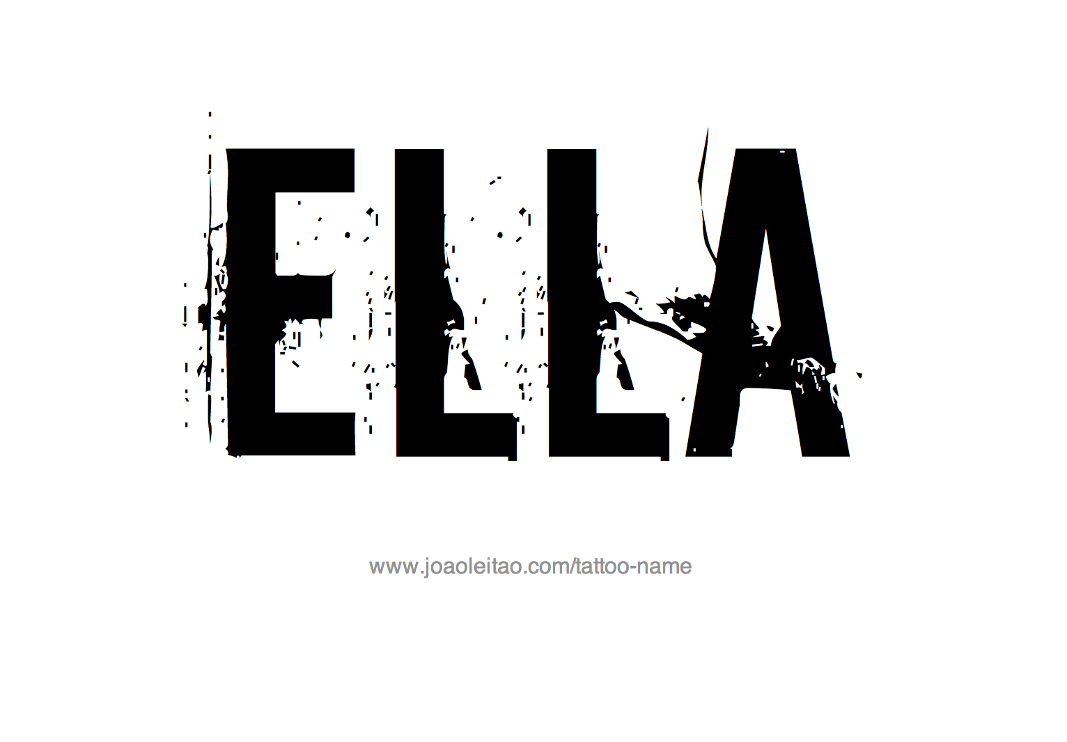 Tattoo Design Name Ella