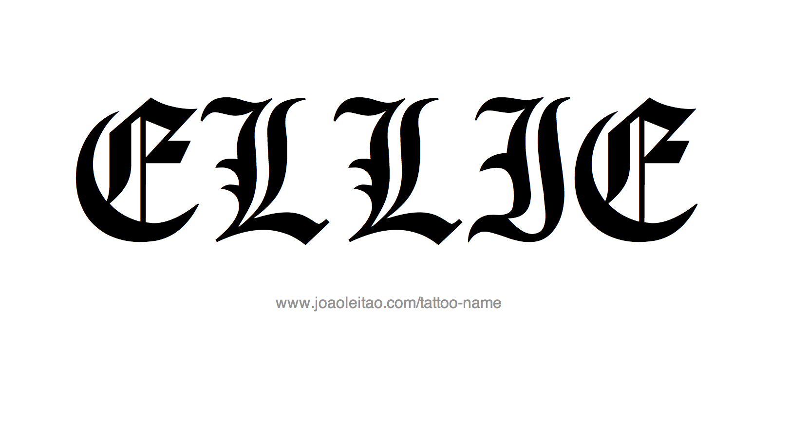Tattoo Design Name Ellie