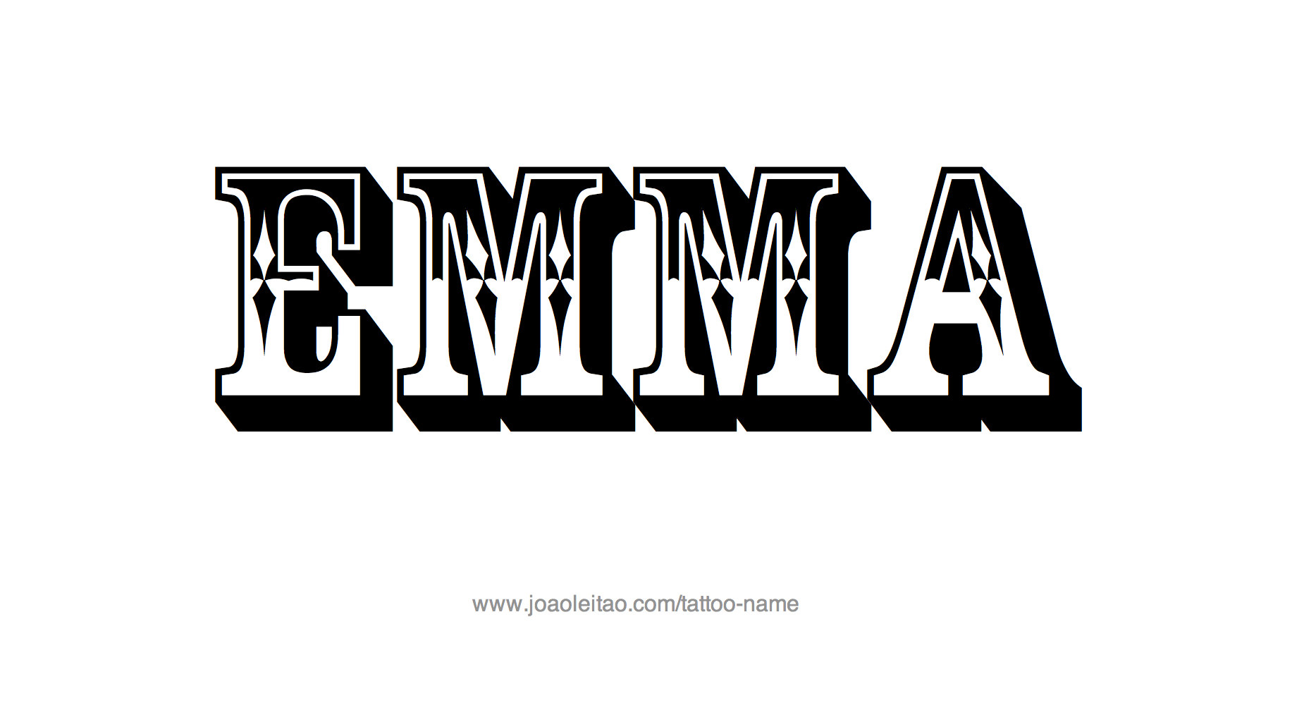 Tattoo Design Name Emma