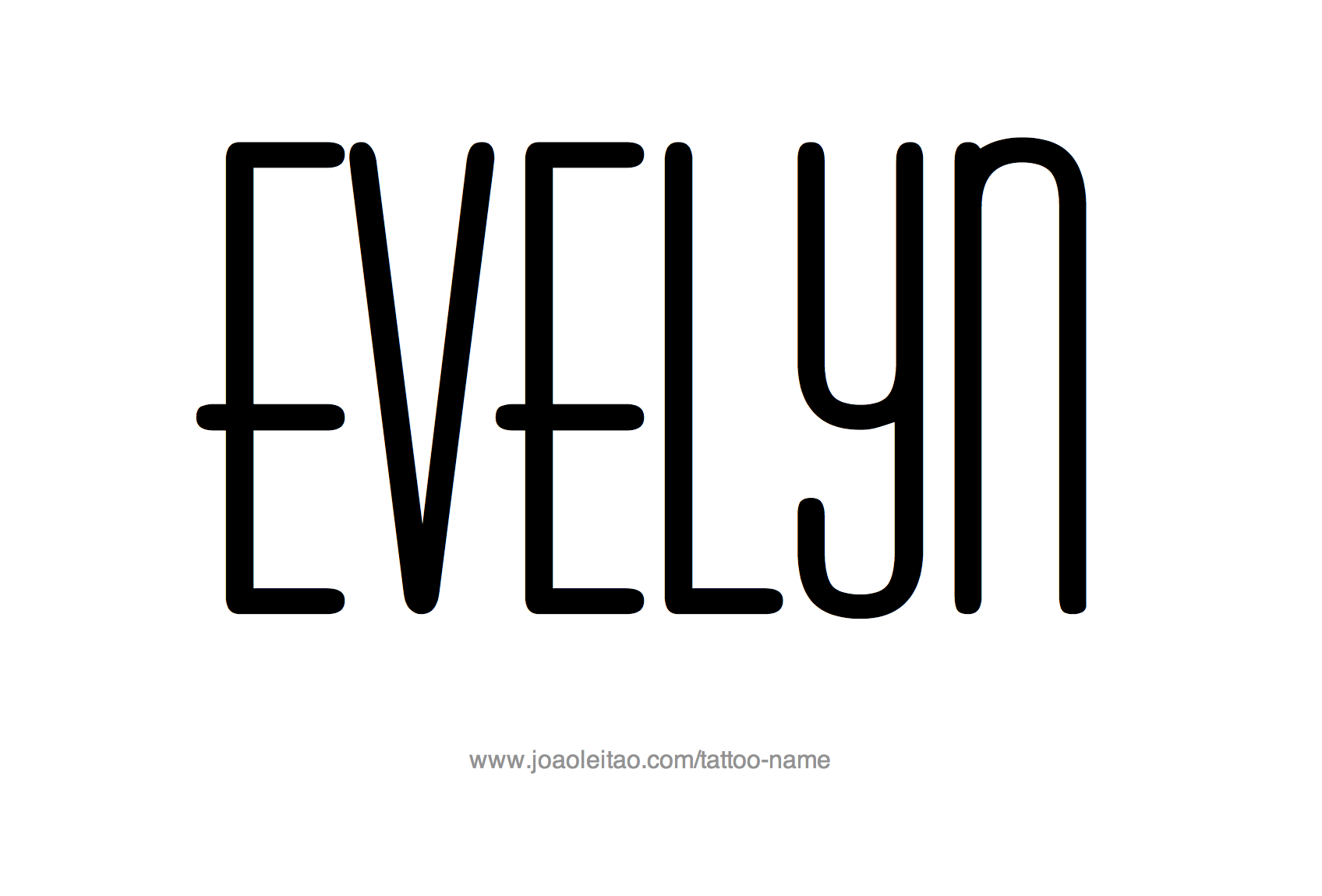 Tattoo Design Name Evelyn