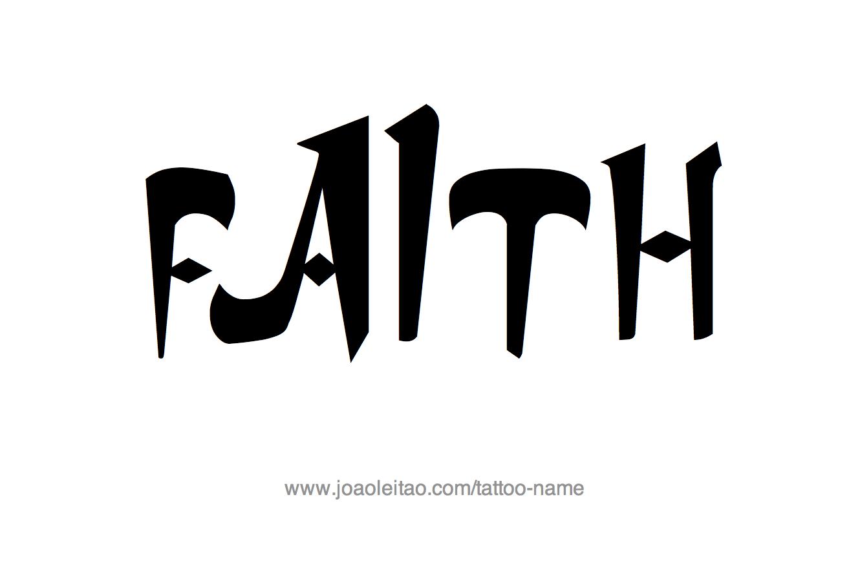 Tattoo Design Name Faith