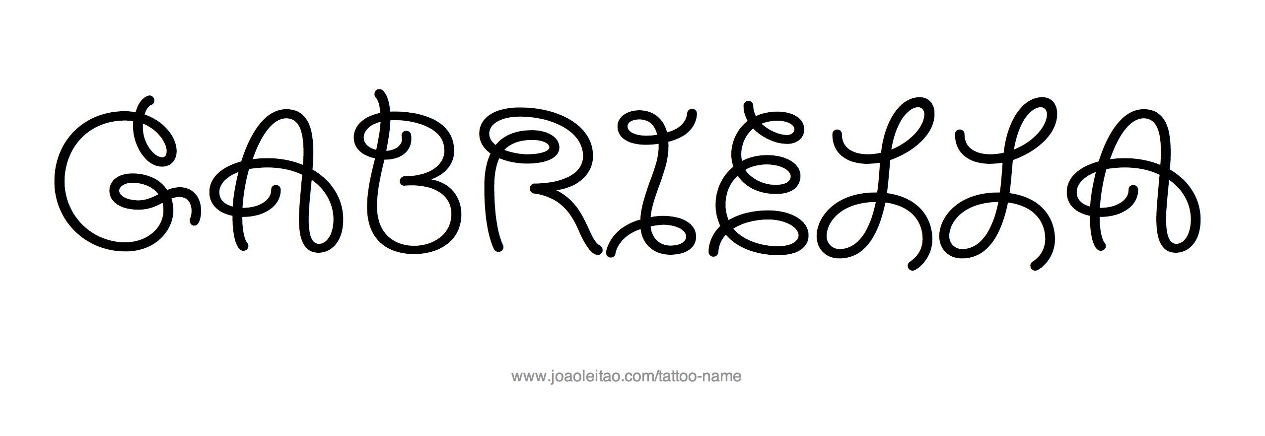 Tattoo Design Name Gabriella