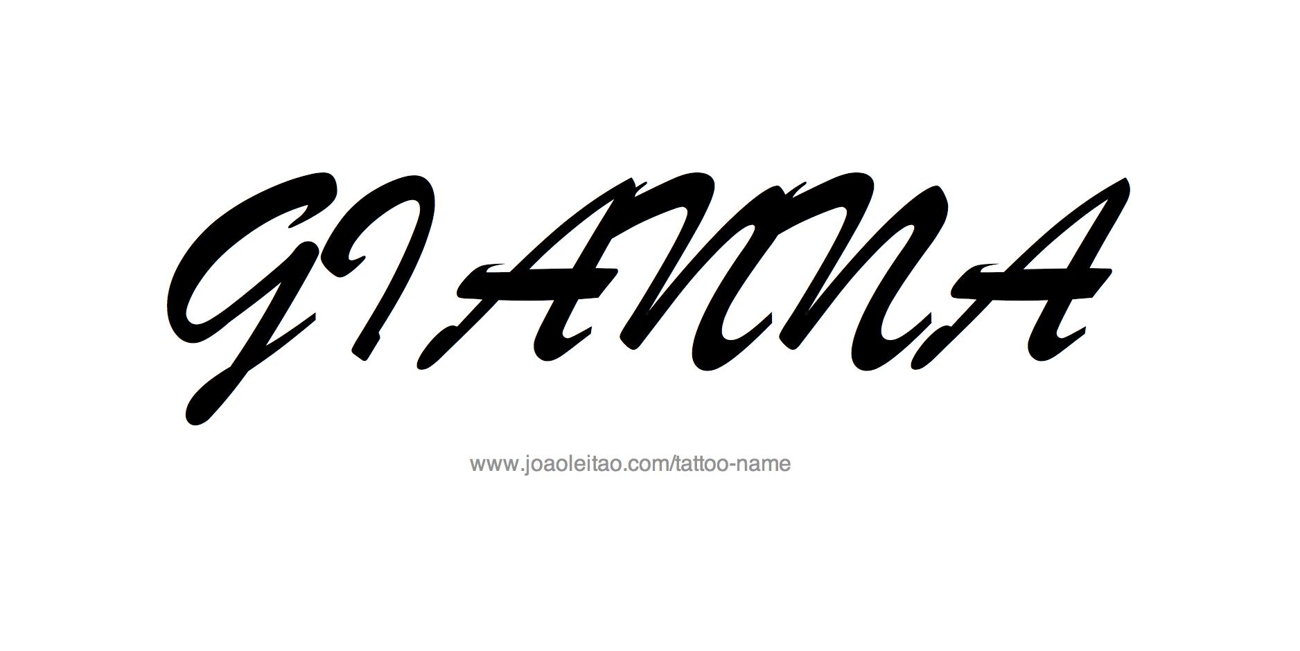 Tattoo Design Name Gianna