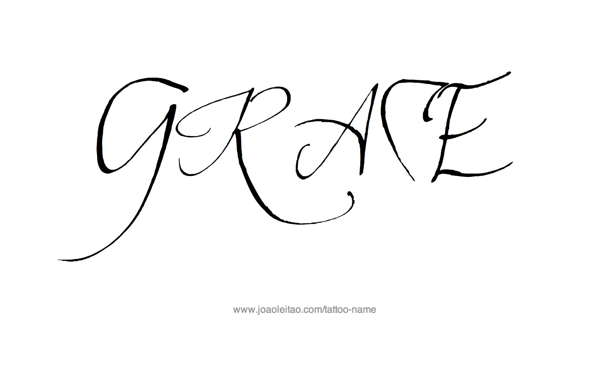 Tattoo Design Name Grace