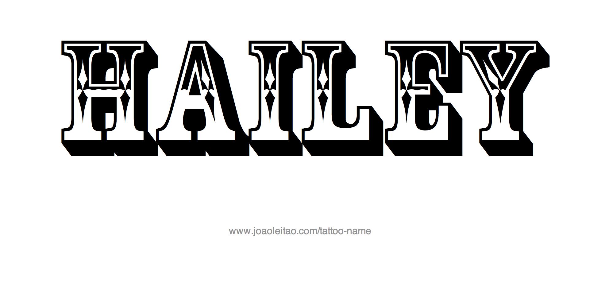 Tattoo Design Name Hailey