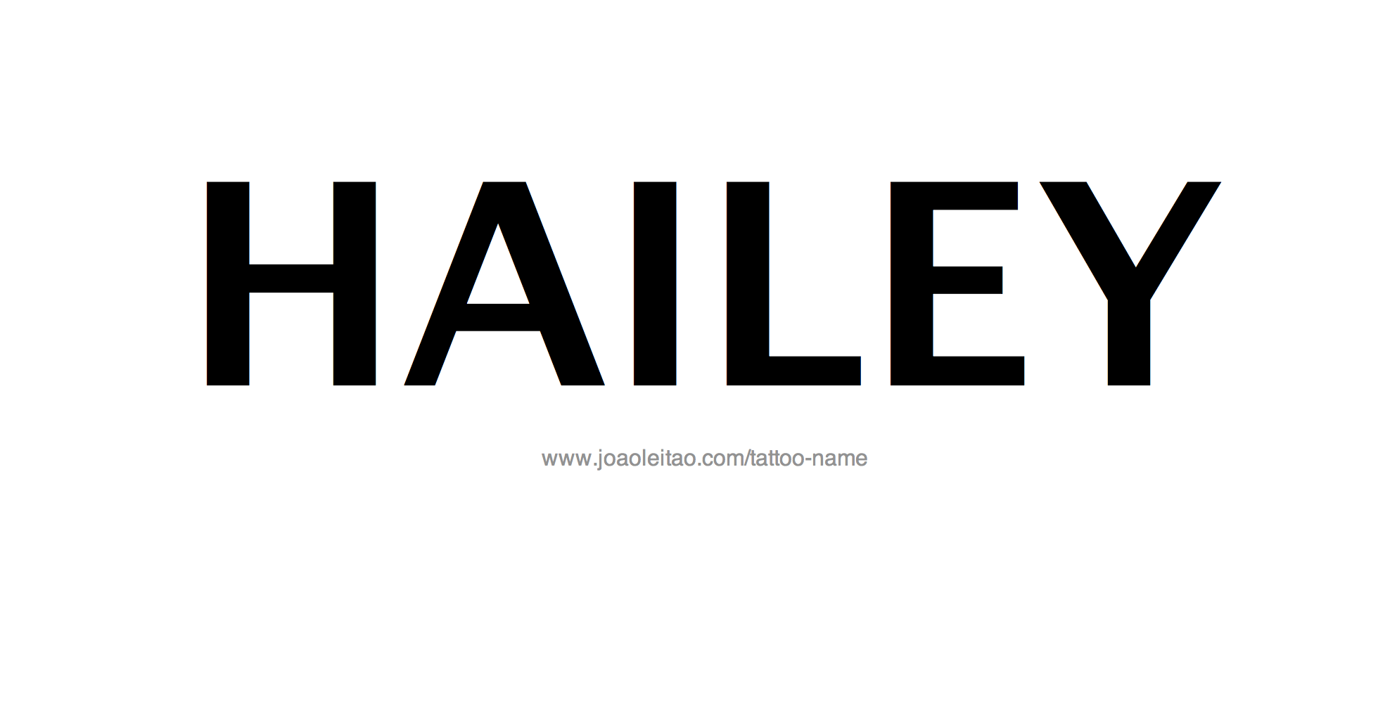 Tattoo Design Name Hailey