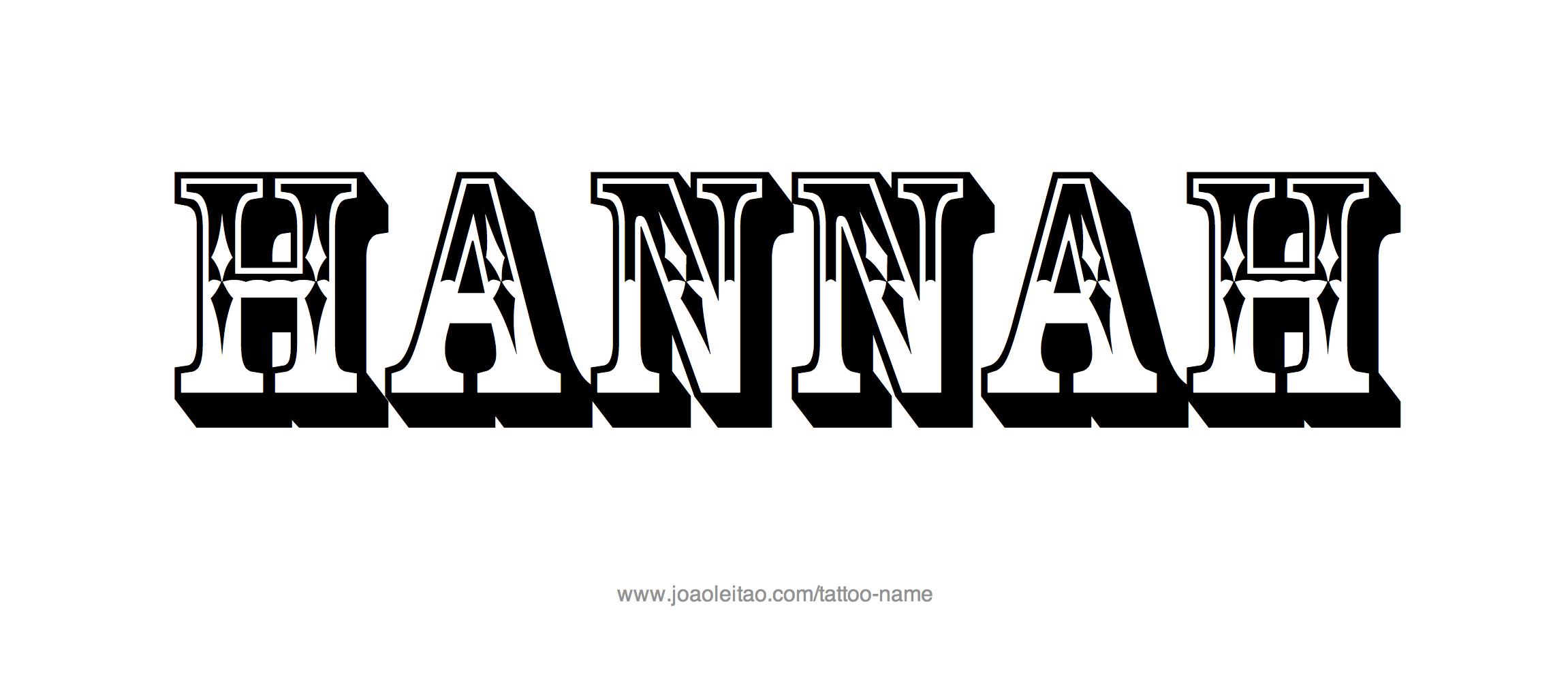 Tattoo Design Name Hannah