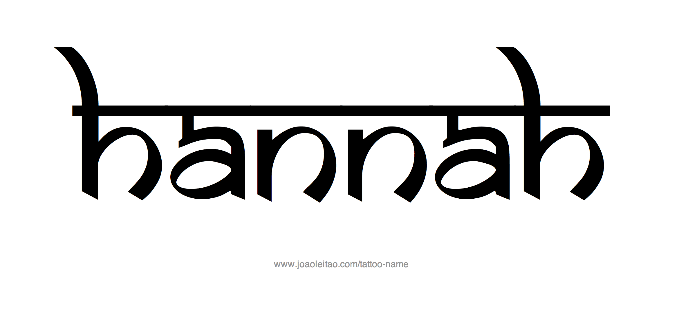 Tattoo Design Name Hannah