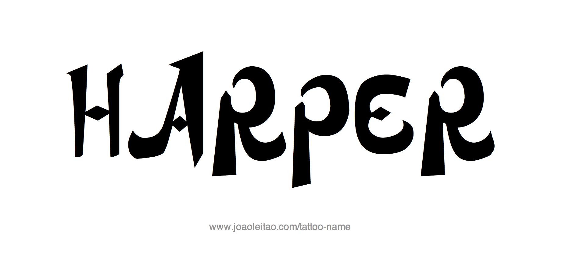 Tattoo Design Name Harper