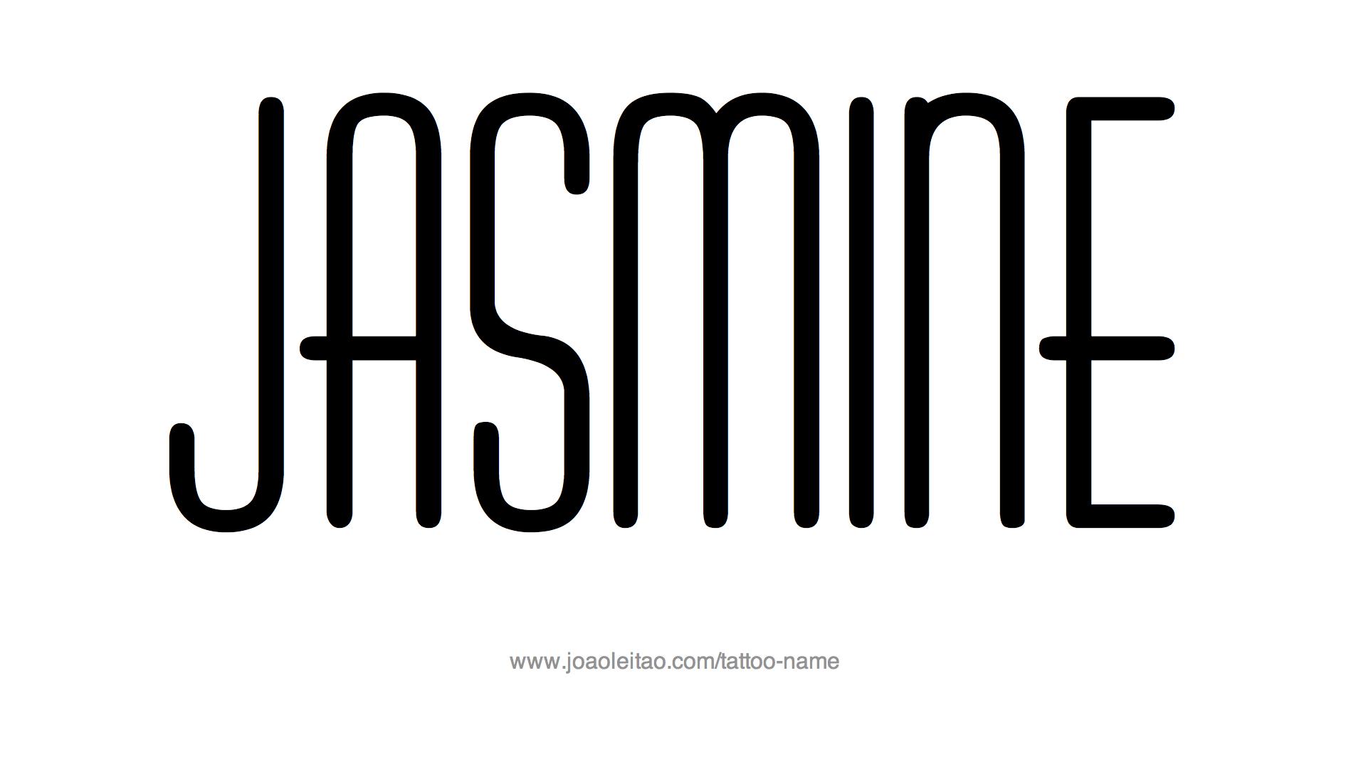 Tattoo Design Name Jasmine