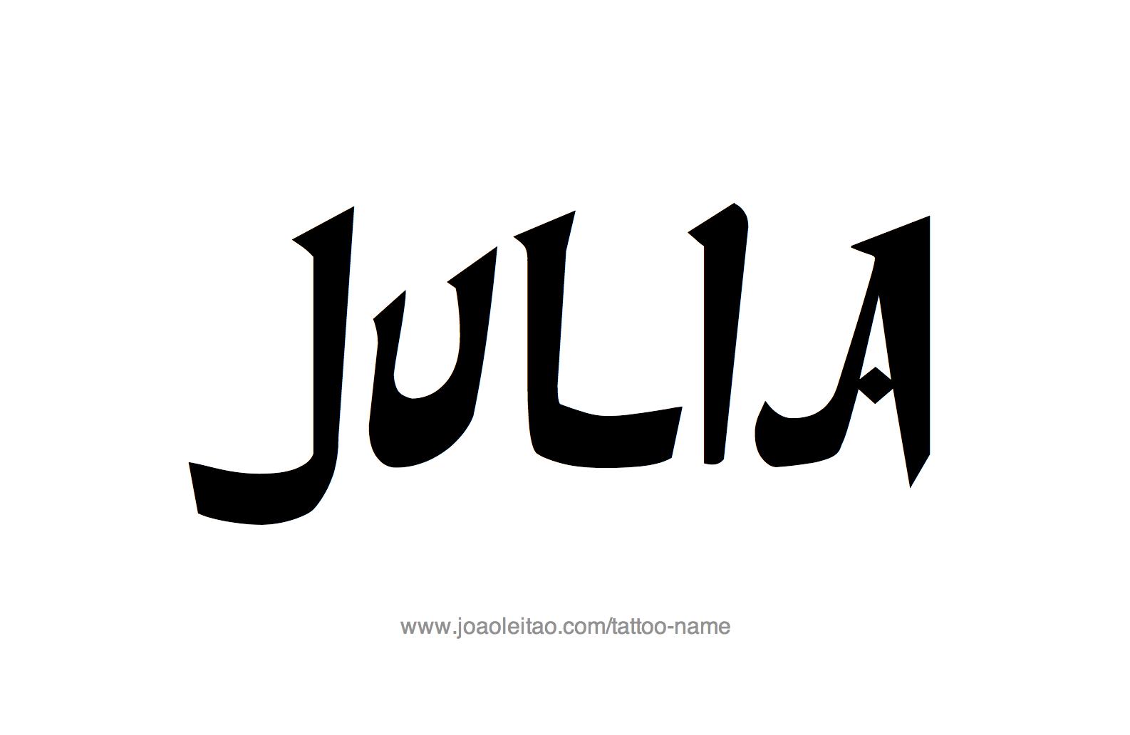 Tattoo Design Name Julia