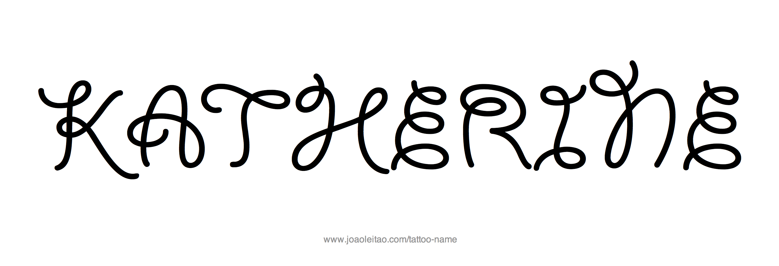 Tattoo Design Name Katherine