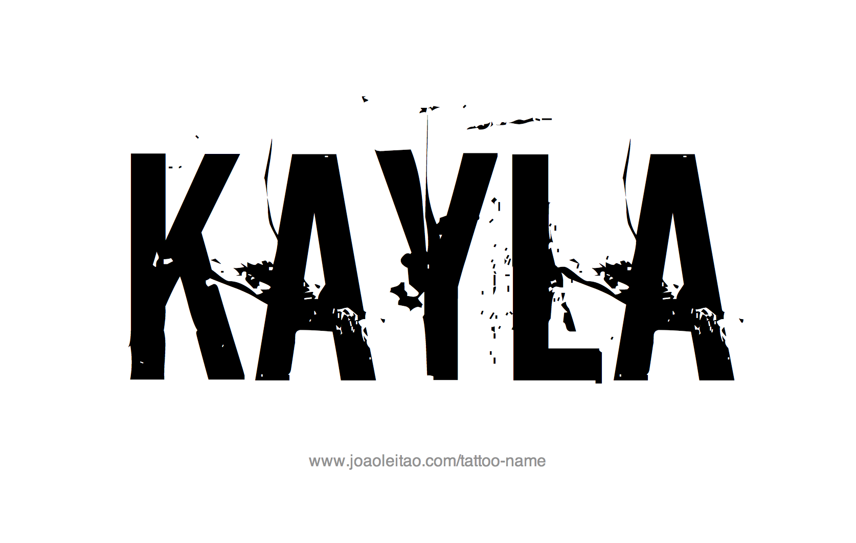 Tattoo Design Name Kayla