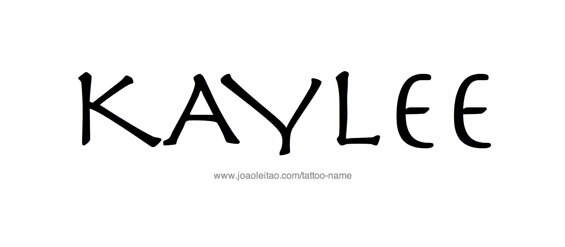 Tattoo Design Name Kaylee
