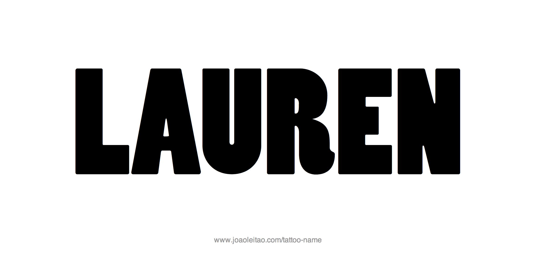 Lauren Name Tattoo Designs