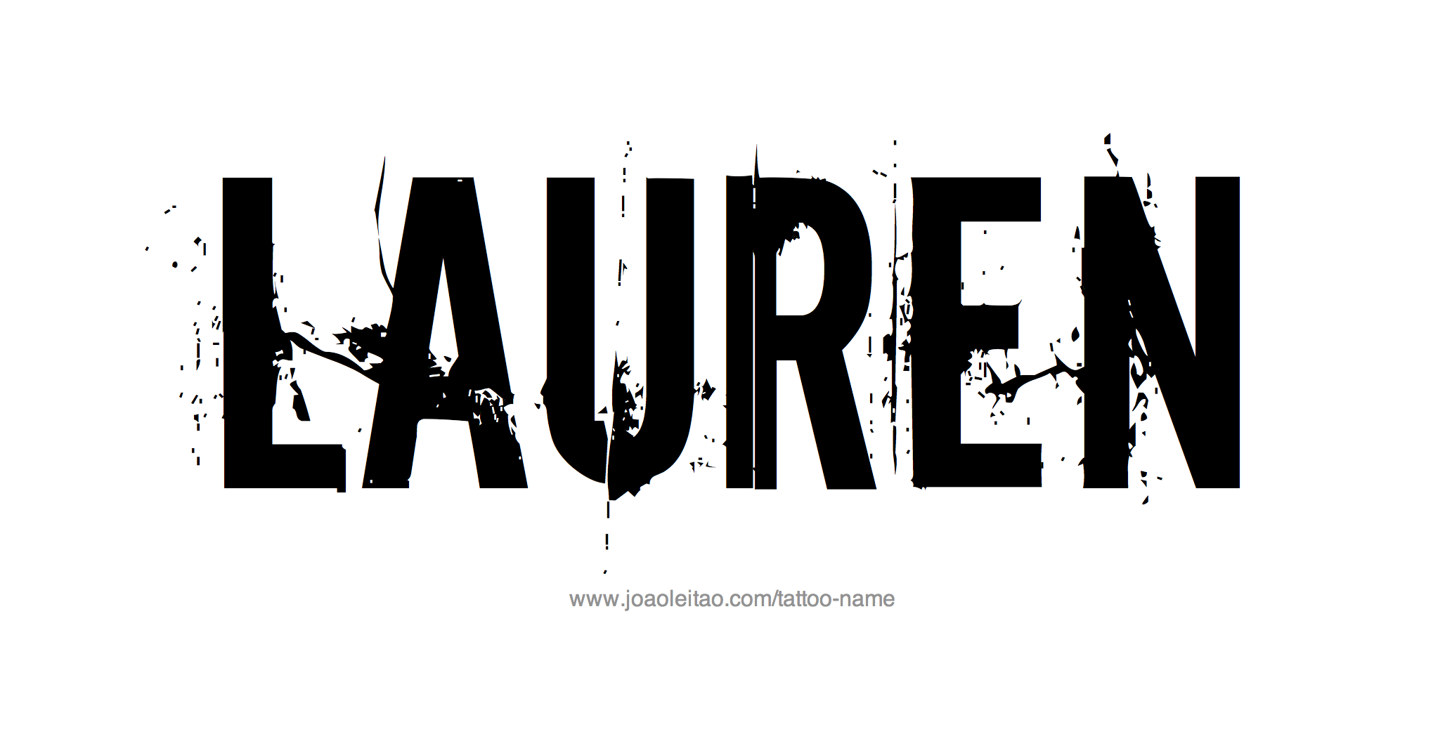 Tattoo Design Name Lauren