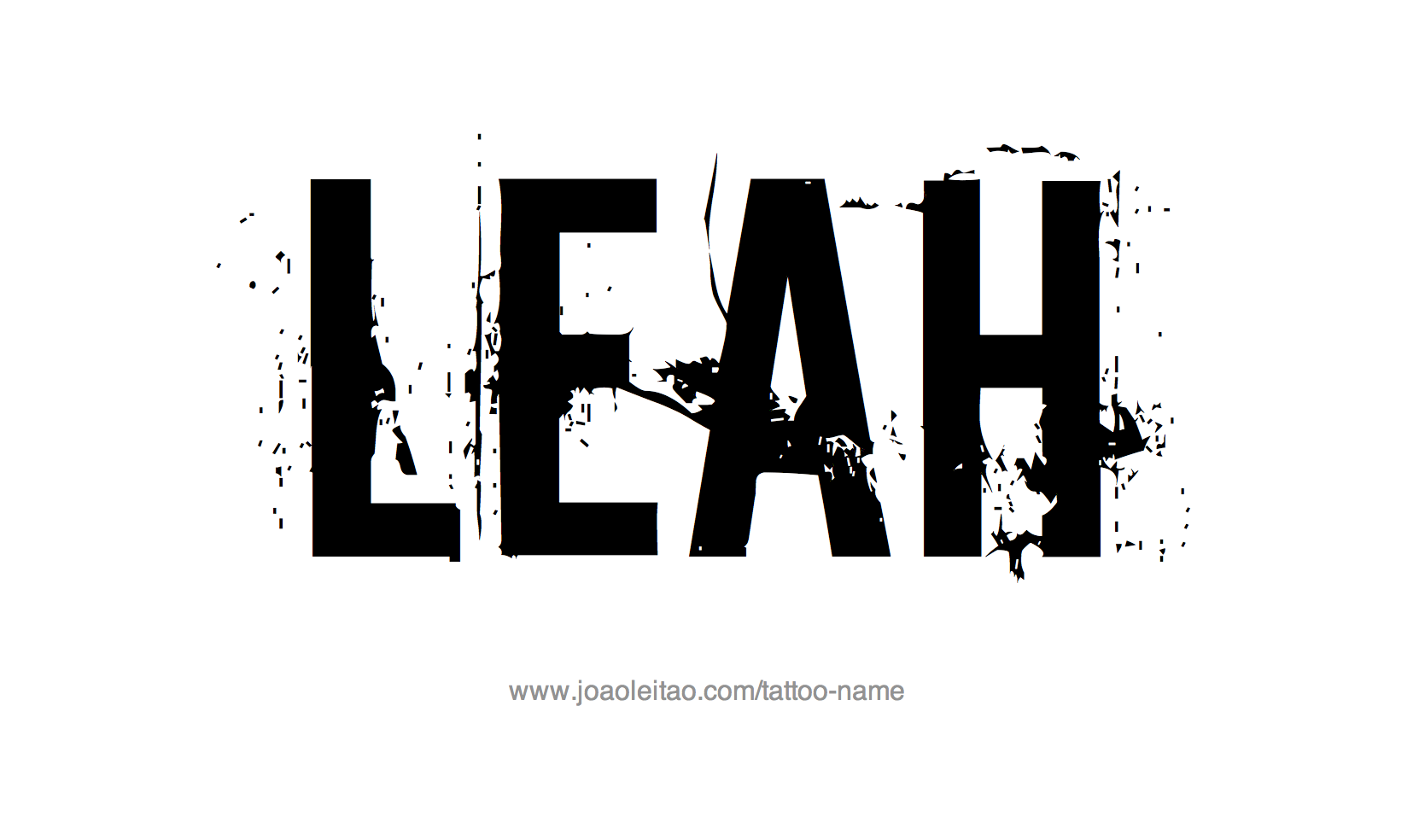 Tattoo Design Name Leah