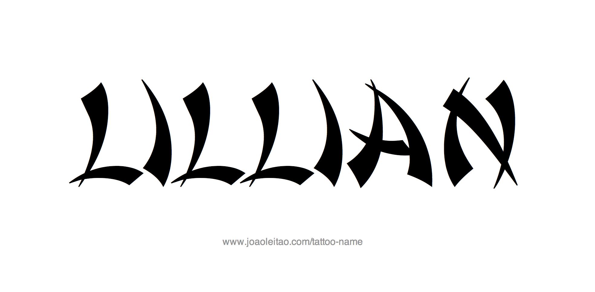 Tattoo Design Name Lillian