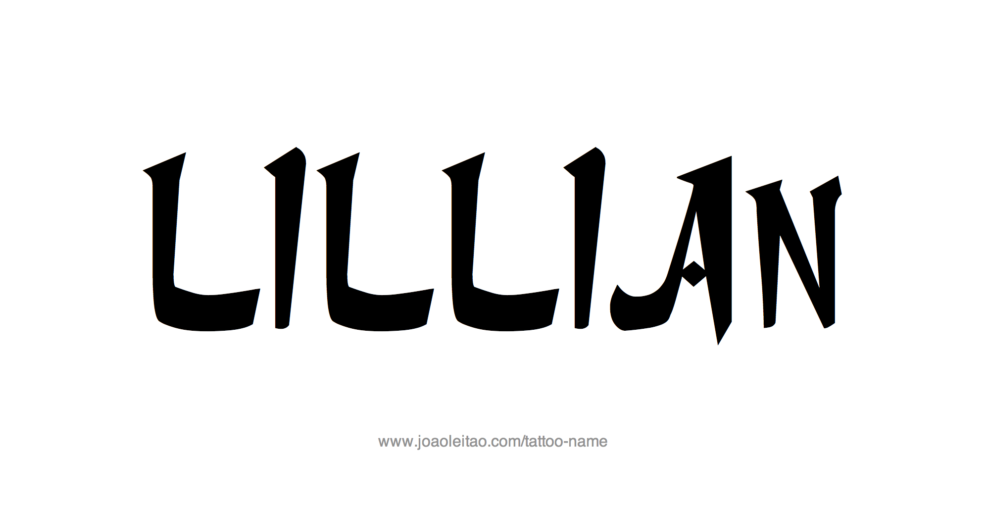 Tattoo Design Name Lillian