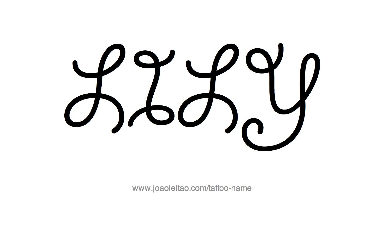 Tattoo Design Name Lily