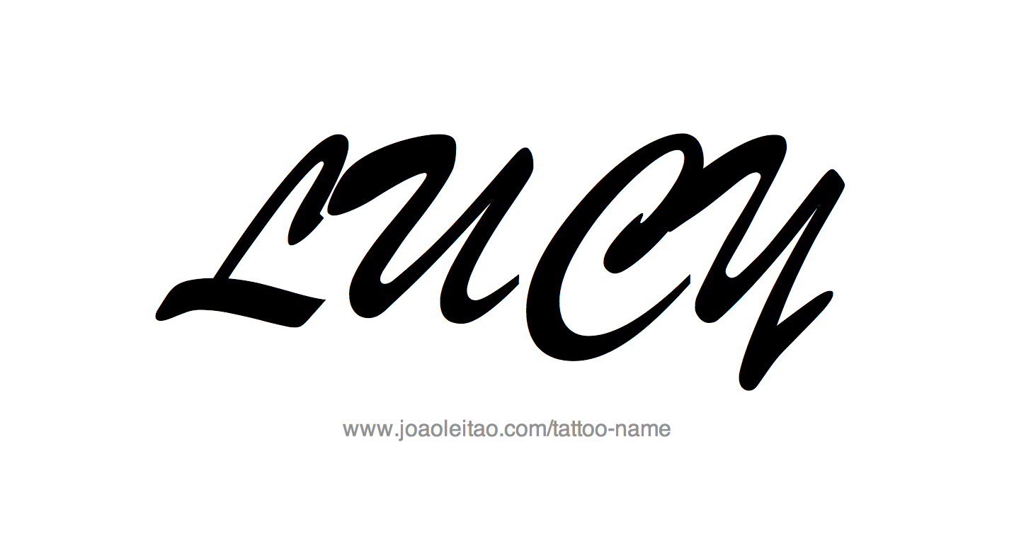 Tattoo Design Name Lucy