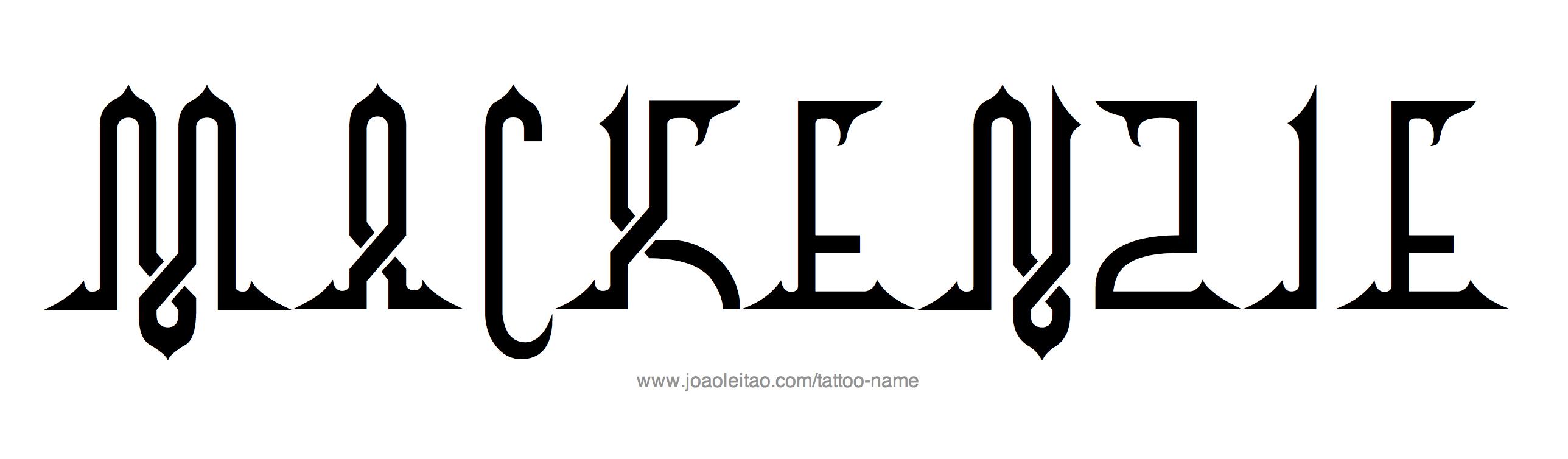 Tattoo Design Name Mackenzie