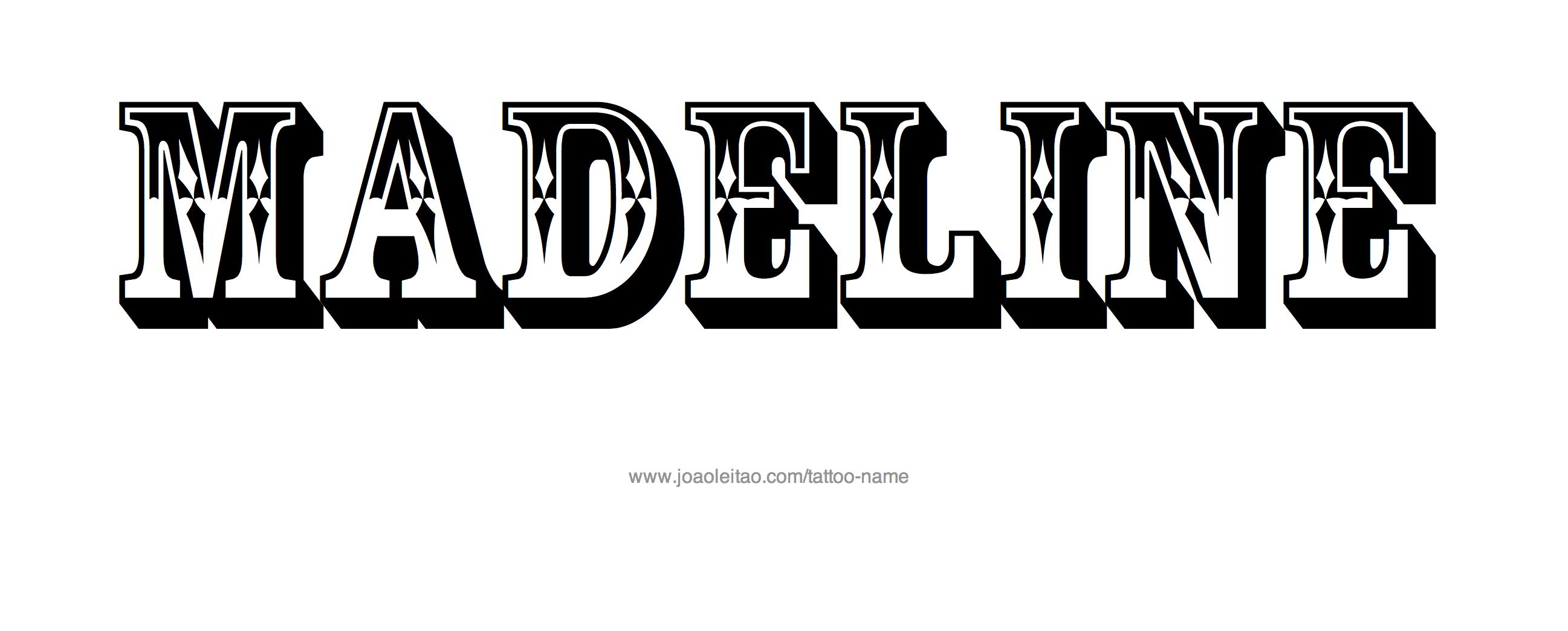 Tattoo Design Name Madeline