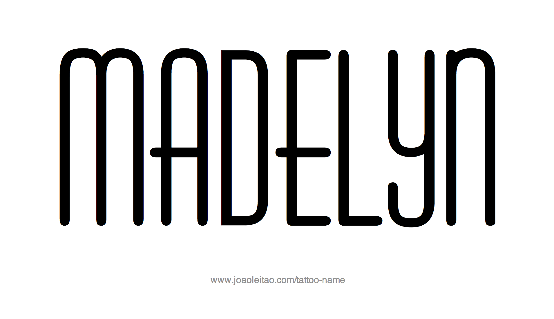 Tattoo Design Name Madelyn