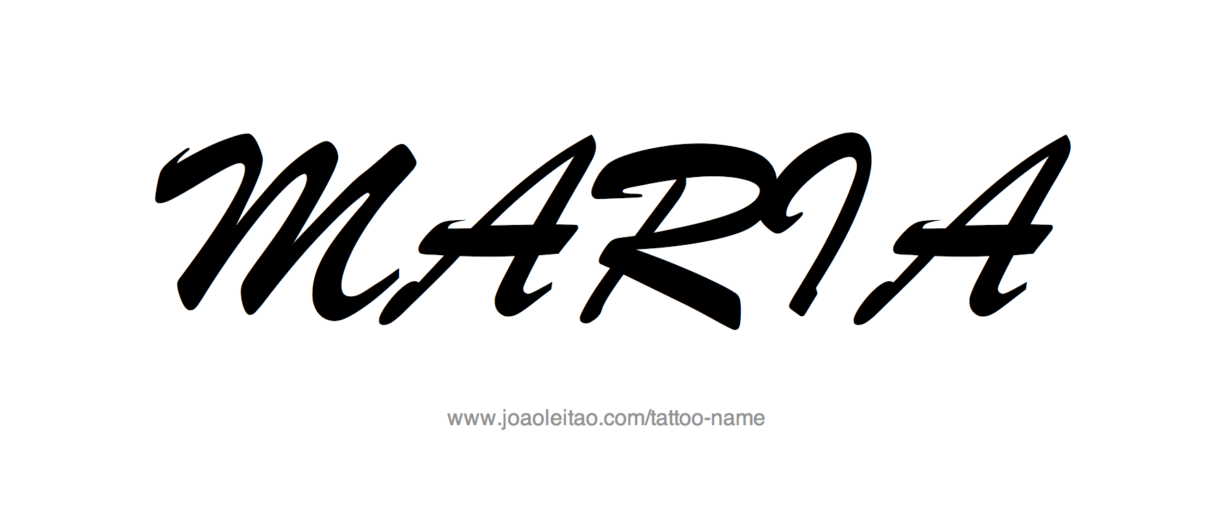 Tattoo Design Name Maria