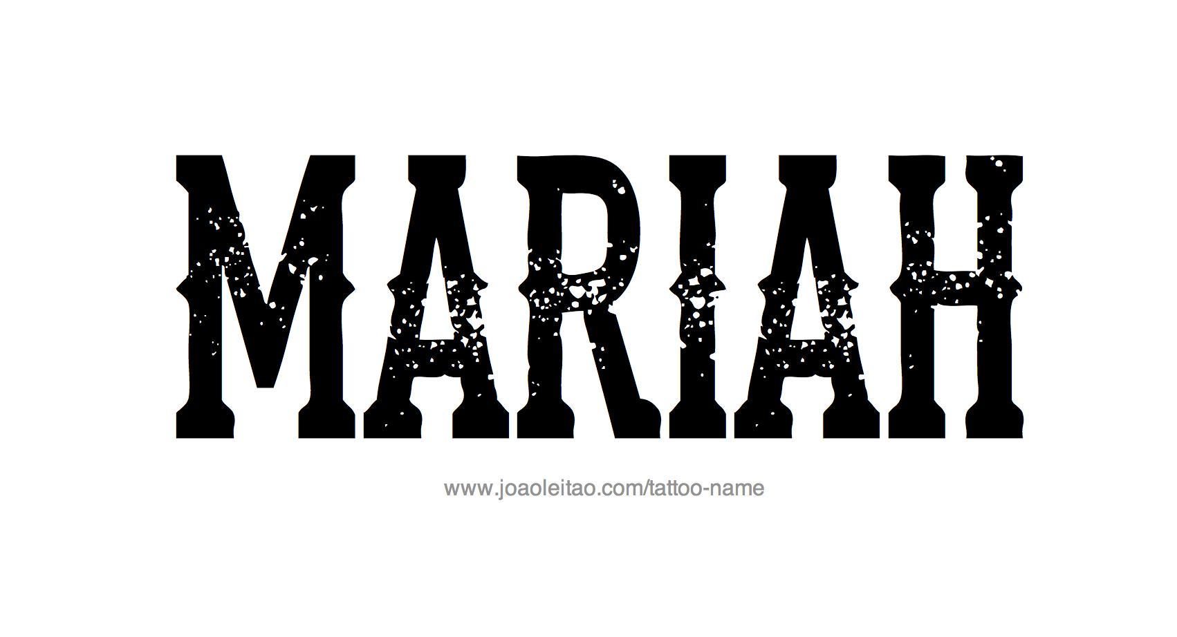 Tattoo Design Name Mariah