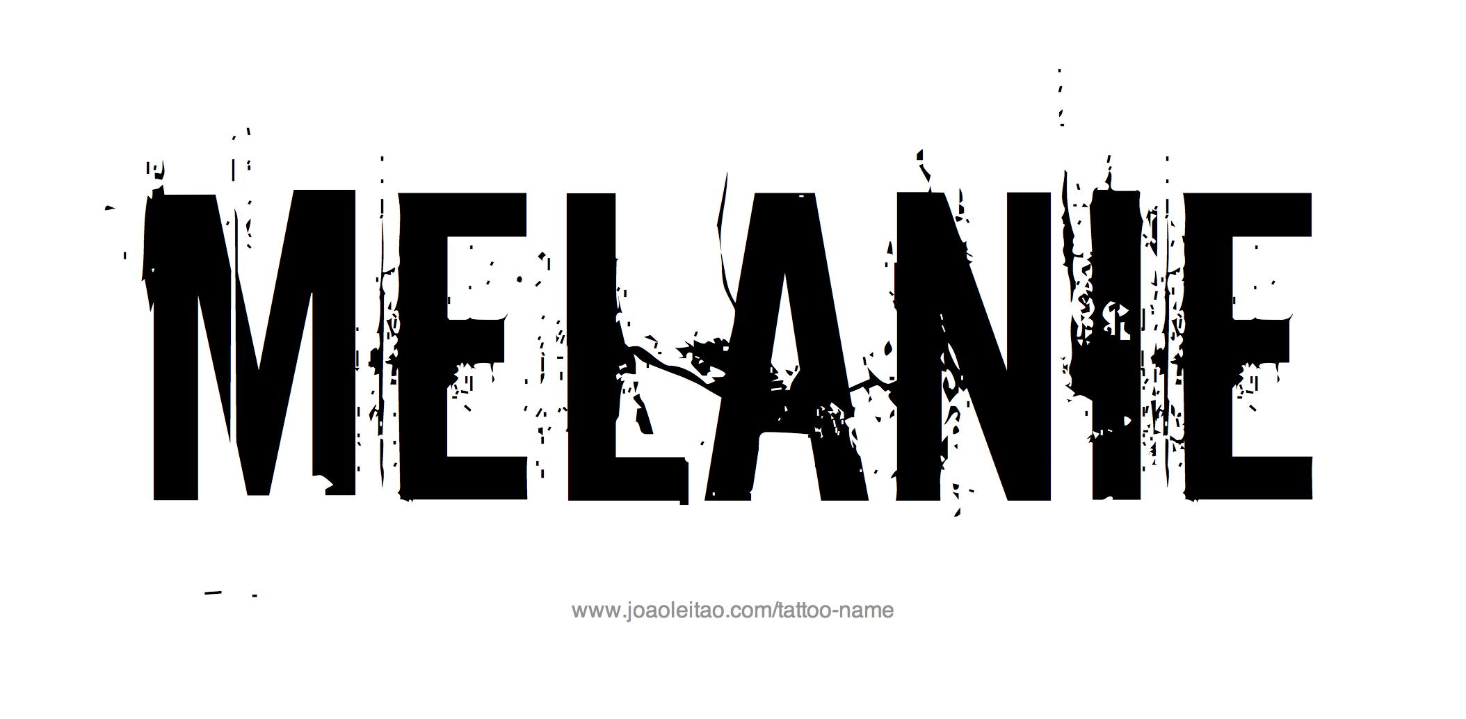 Tattoo Design Name Melanie