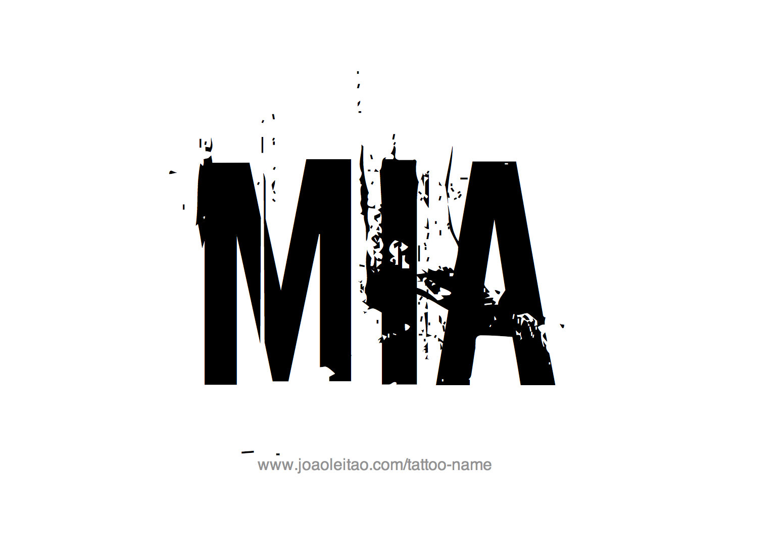 Tattoo Design Name Mia
