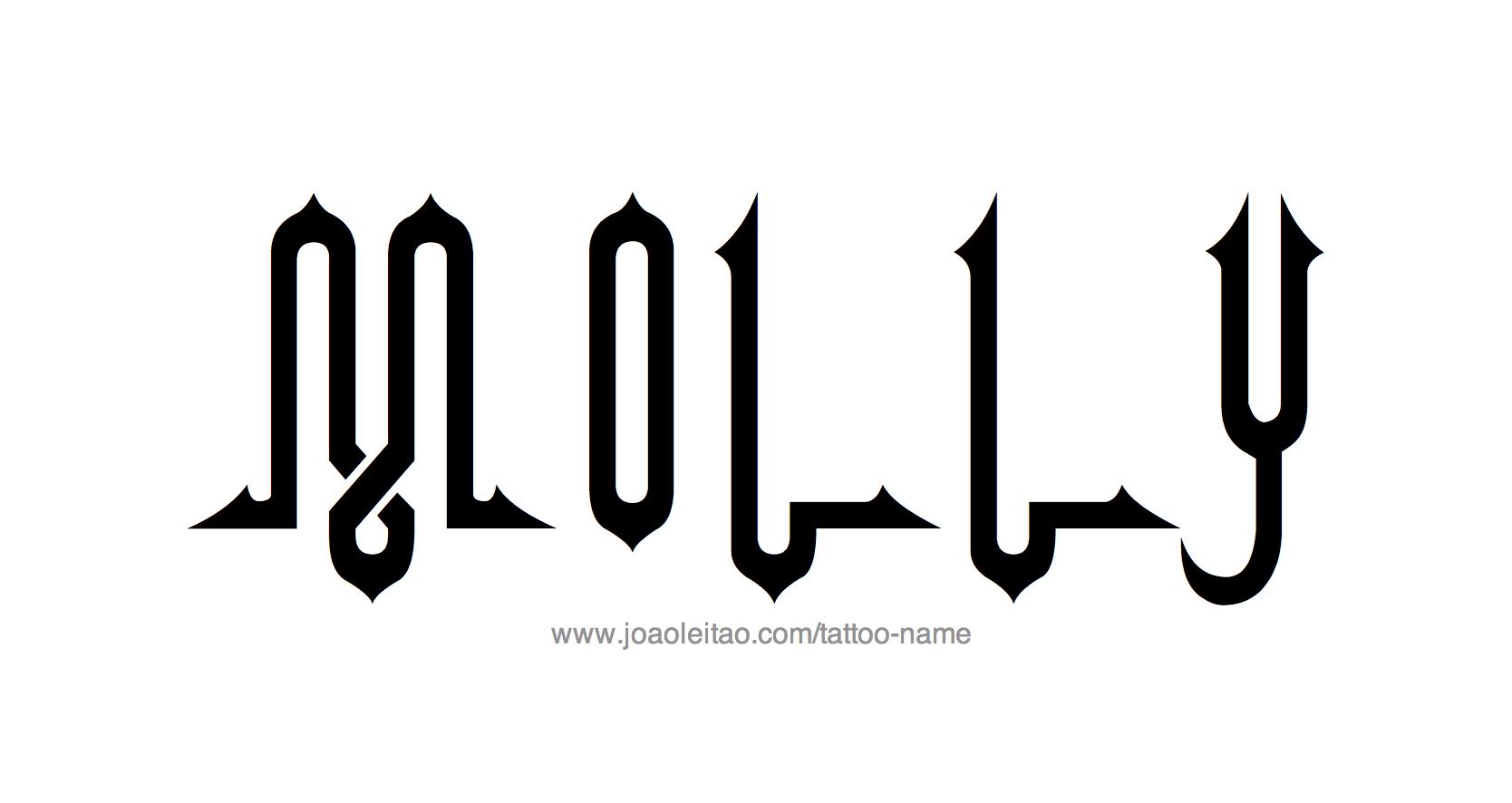 Tattoo Design Name Molly