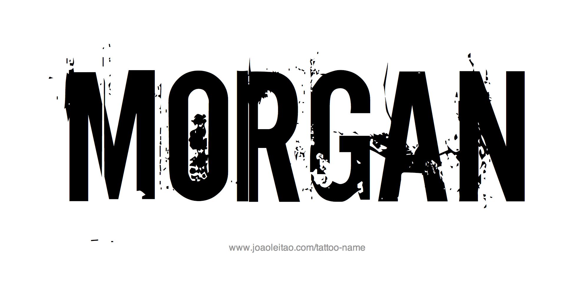 Tattoo Design Name Morgan