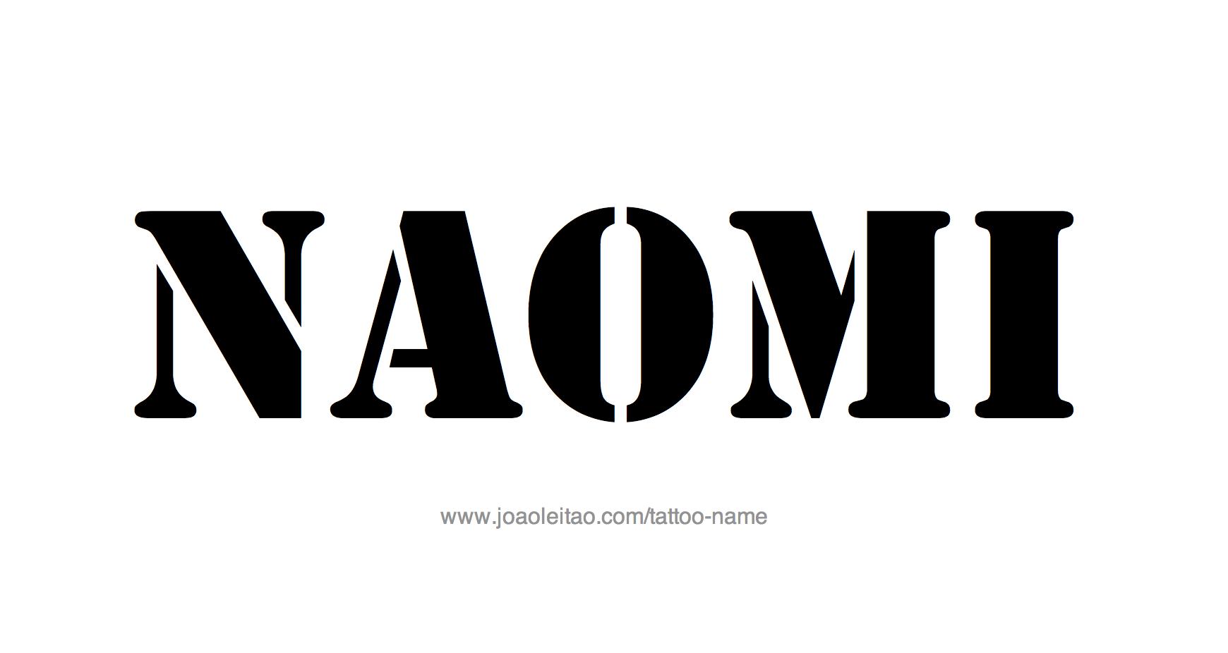 Tattoo Design Name Naomi