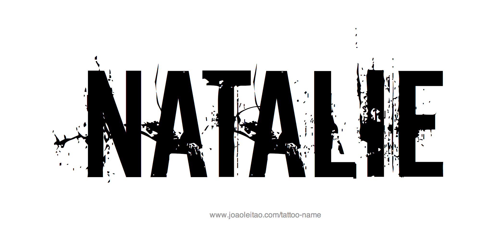 Tattoo Design Name Natalie