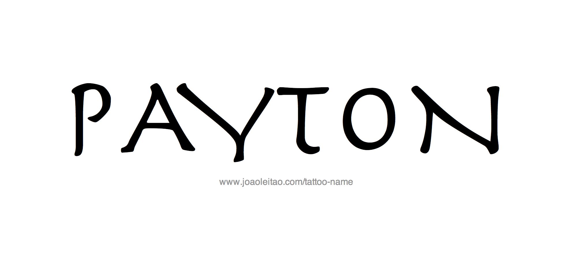 Tattoo Design Name Payton