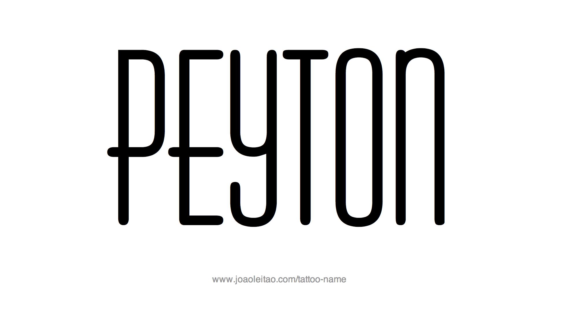 Tattoo Design Name Peyton