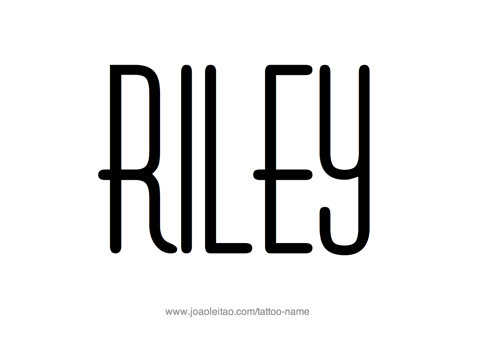 Tattoo Design Name Riley