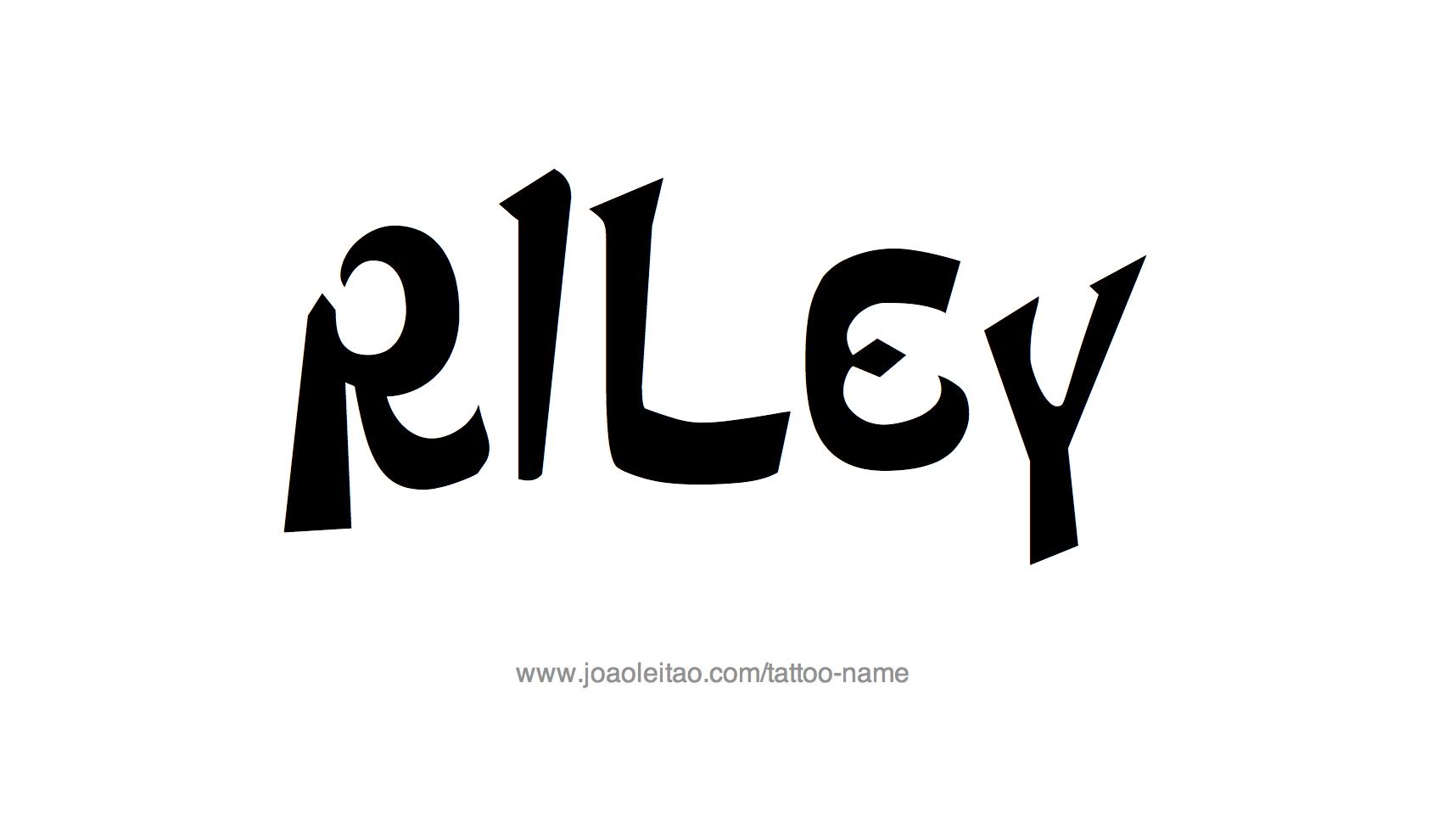Name: Riley Name Tattoo Designs