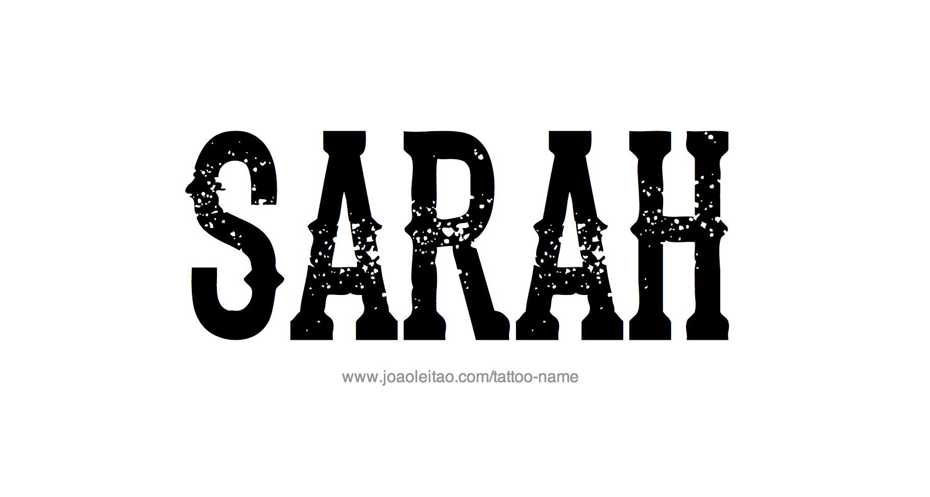 Tattoo Design Name Sarah