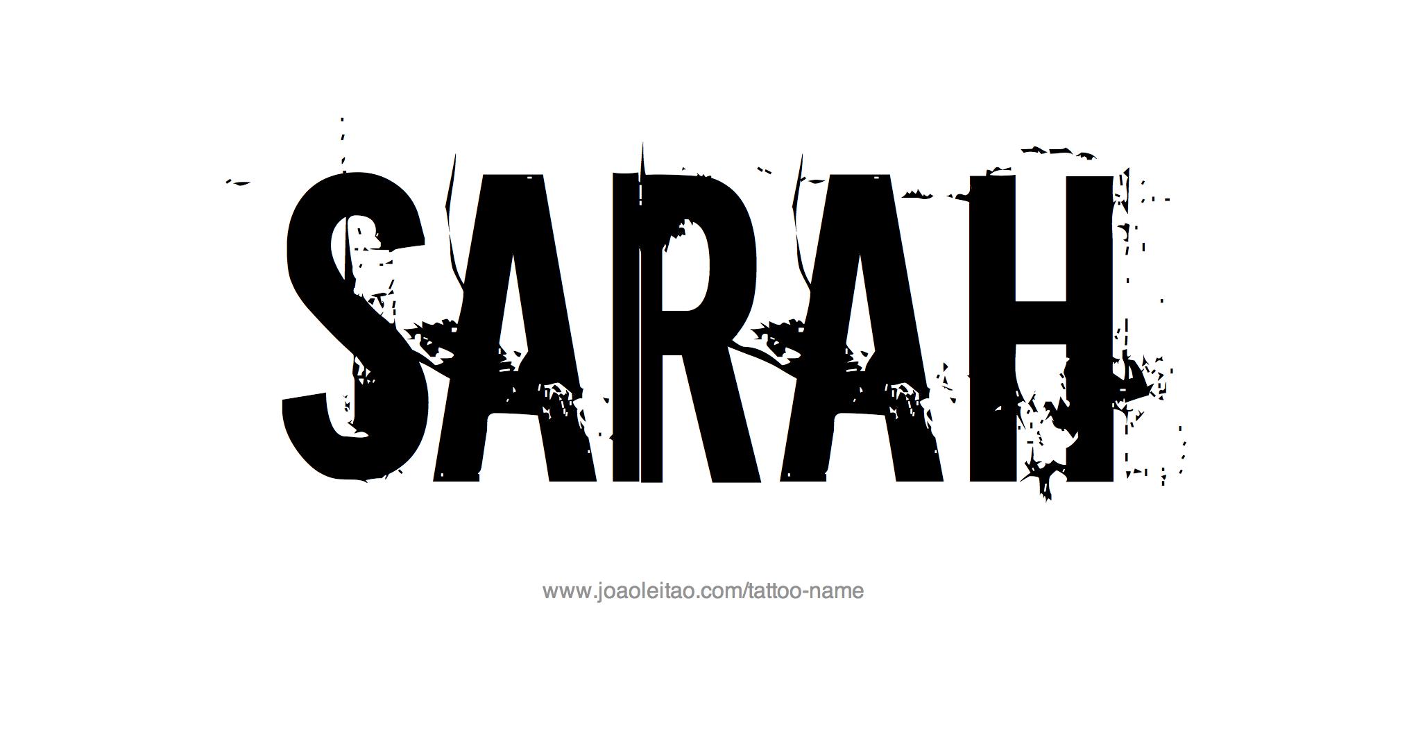 Name: Sarah Name Tattoo Designs