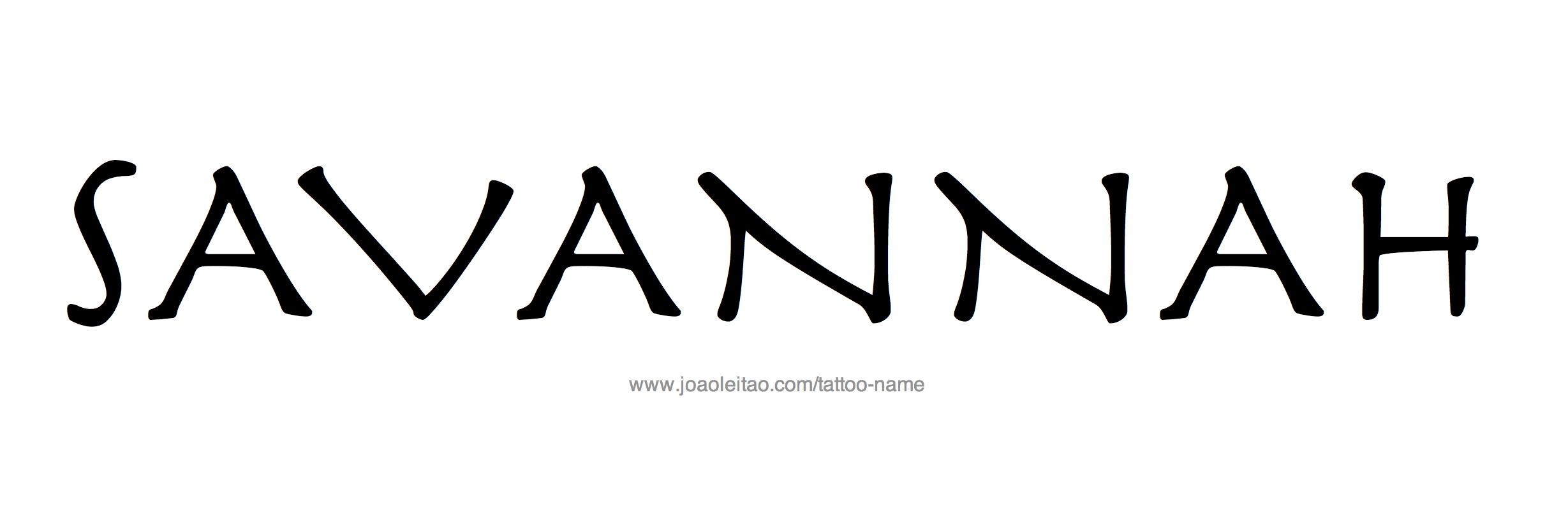 Tattoo Design Name Savannah