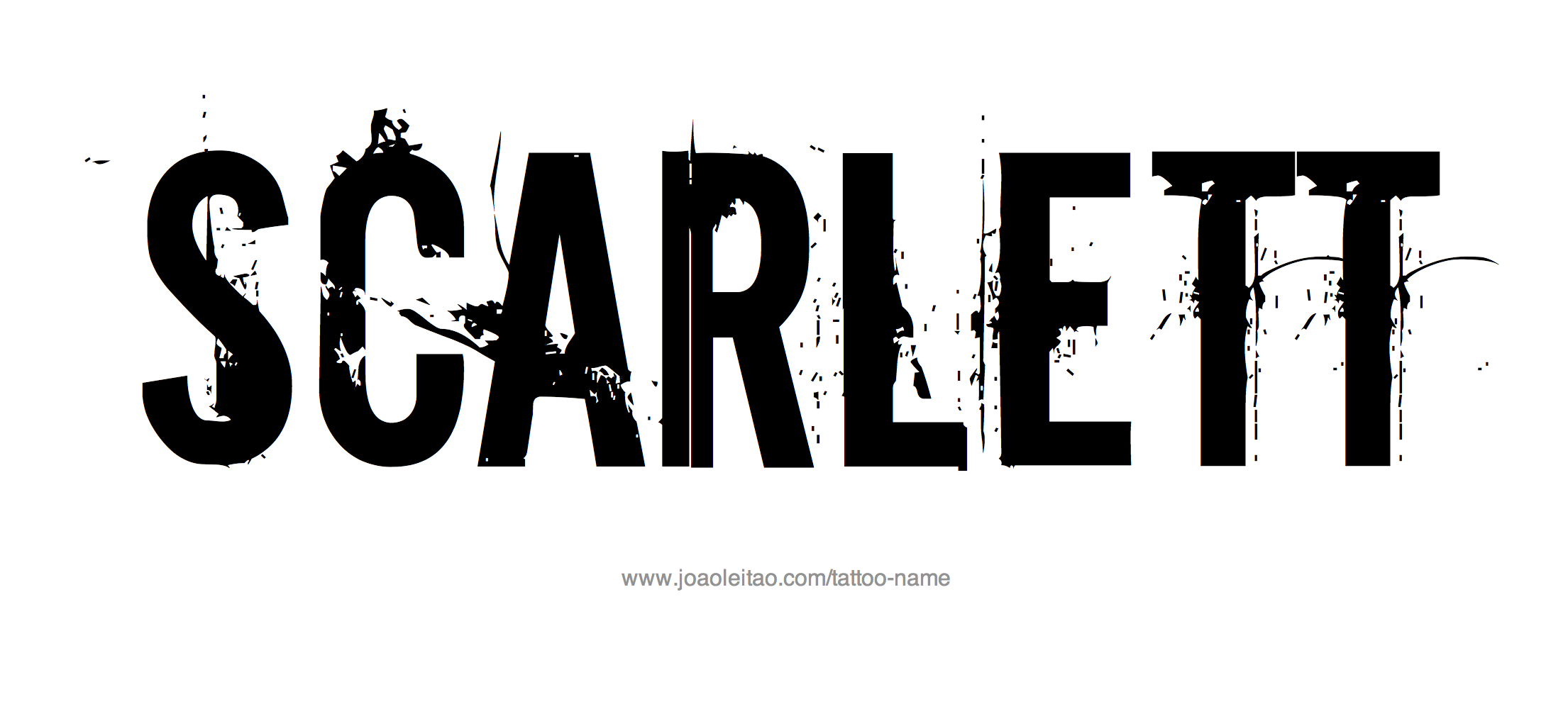 Tattoo Design Name Scarlett