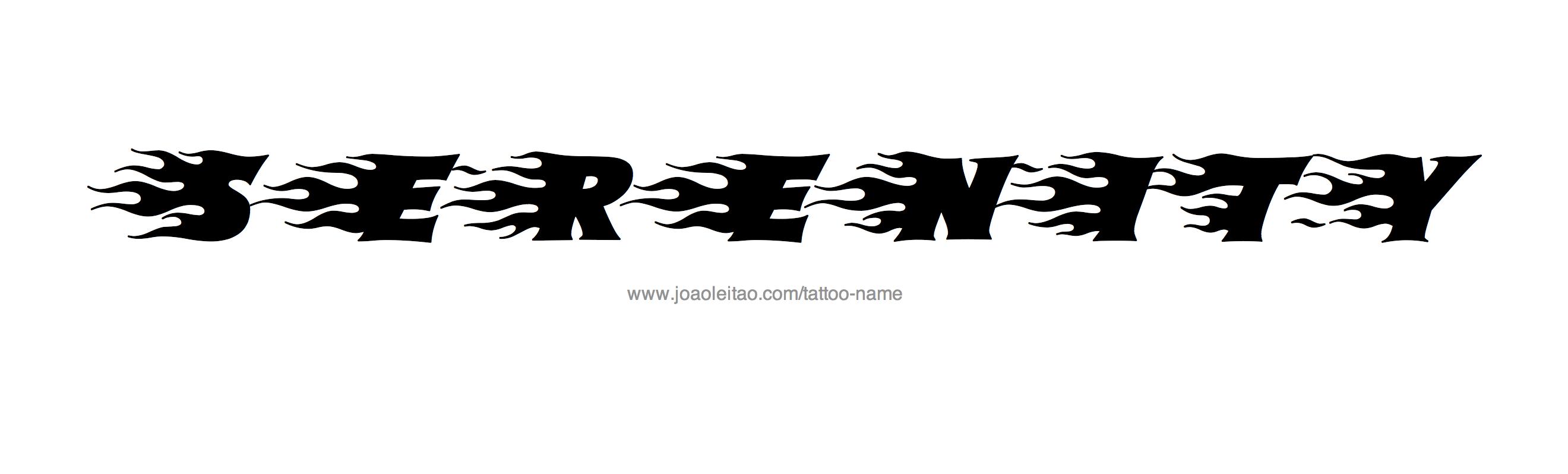 Serenity Name Tattoo Designs