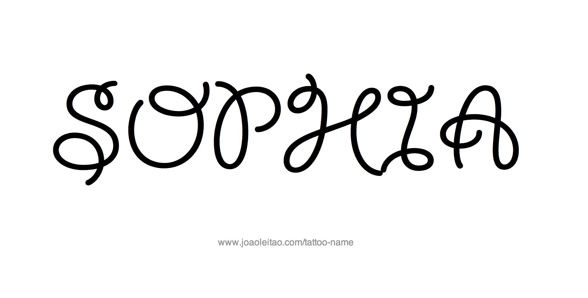 Tattoo Design Name Sophia