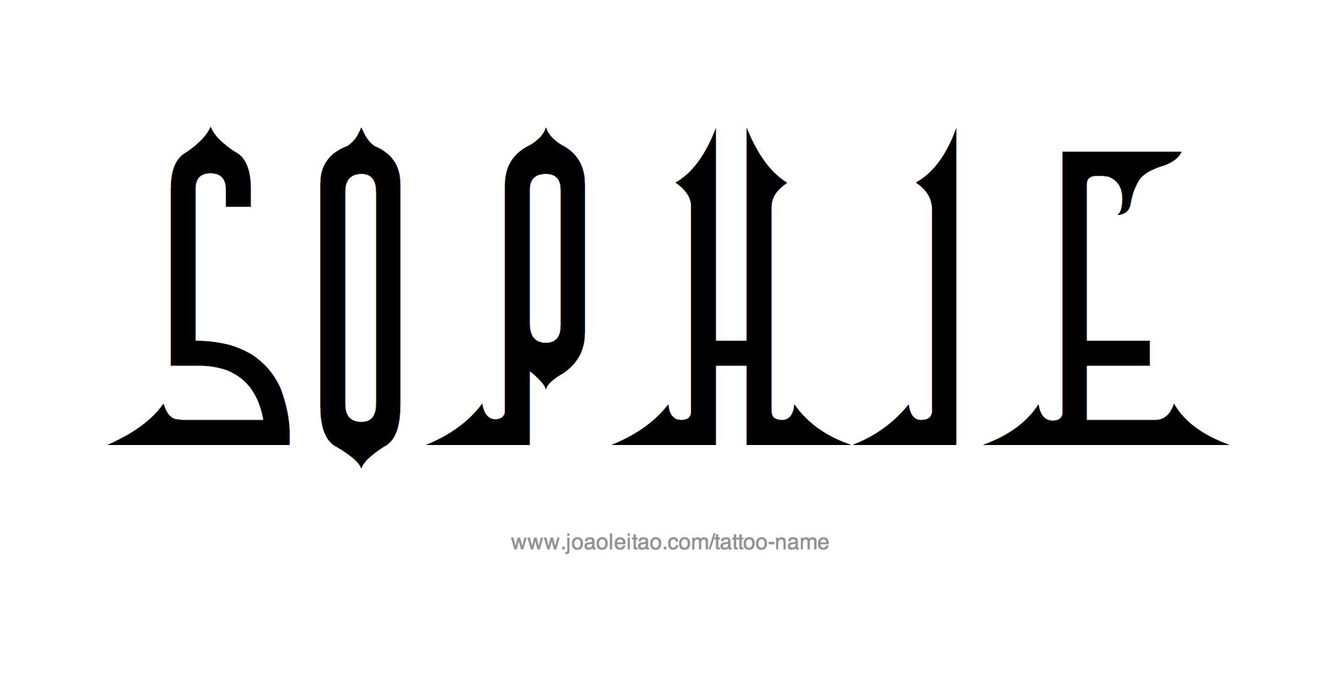 Tattoo Design Name Sophie