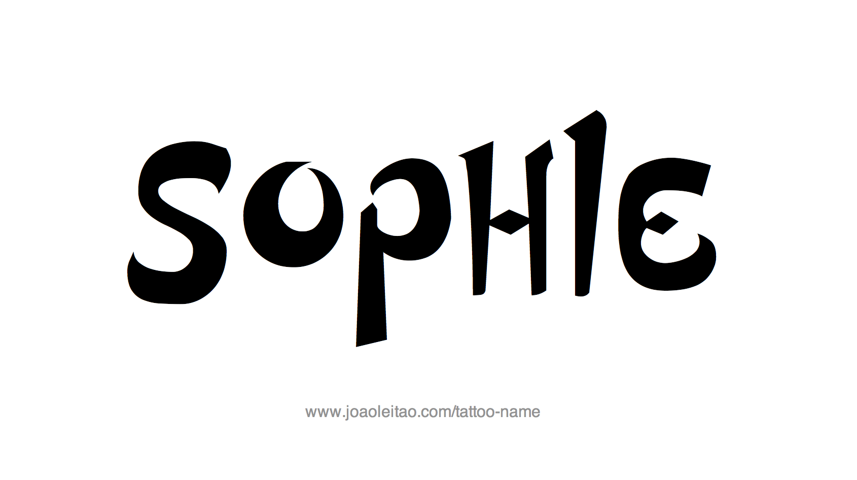 Name: Sophie Name Tattoo Designs